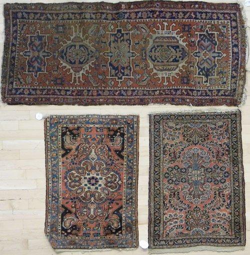 2: Heriz mat, 5' 3'' x 2' 3'', together with two Sarou