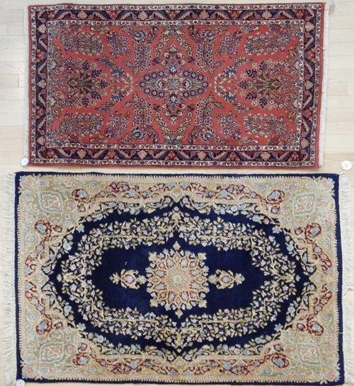 4: Kirman carpet, 5' 3'' x 3' 6'', together with a Kas