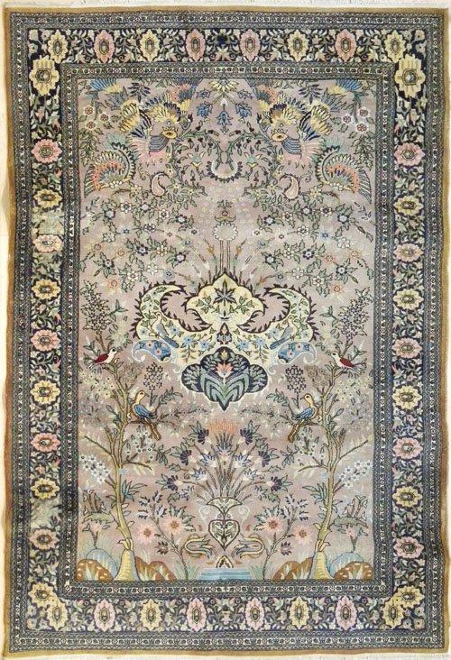 6: Kirman garden rug, 8' x 5'.