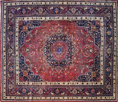 8: Meshed carpet, mid 20th c., 12' x 10'.