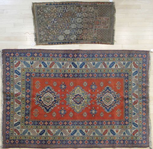 10: Kazak carpet, mid 20th c., 6' 9'' x 4' 9'', togethe