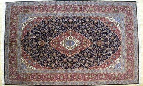 12: Fine Kahsan carpet, 14' 3'' x 10'.