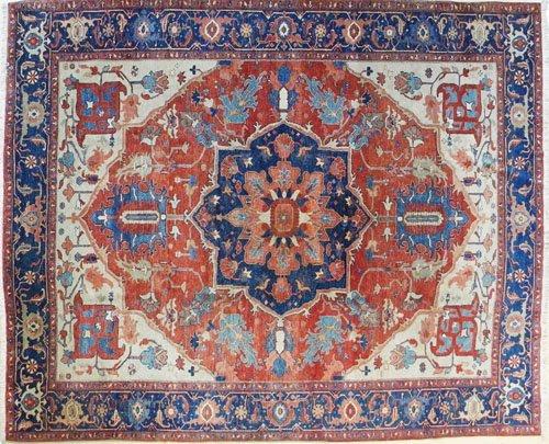 18: Contemporary Serapi carpet, 11' x 9'.