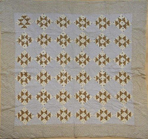 23: Pair of appliqué floral quilts, ca 1900, 88'' x 74