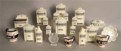 427 Czechoslovakian china canister set together with