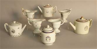 752: Three Chinese export teapots and covers, 18th c.,