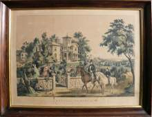 1064 Currier  Ives lithograph titled American Countr