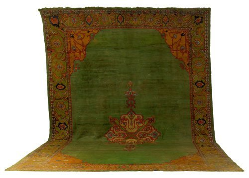 1: Oushak carpet, ca. 1930, with a central medalli