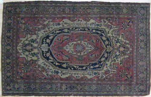 3: Feraghan Sarouk carpet, ca. 1910, 75'' x 50''.