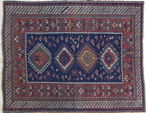 4: Kazak carpet, ca. 1900, with four medallions on