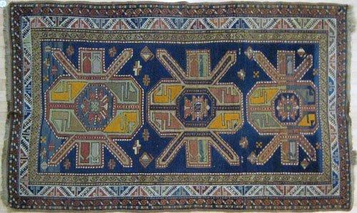 5: Kazak carpet, early 20th c., with three medalli