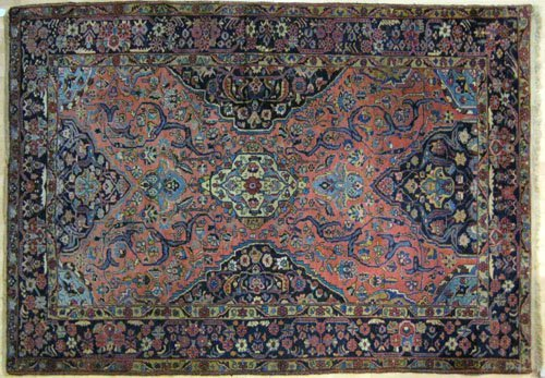 6: Persian carpet, ca. 1930, with overall floral d