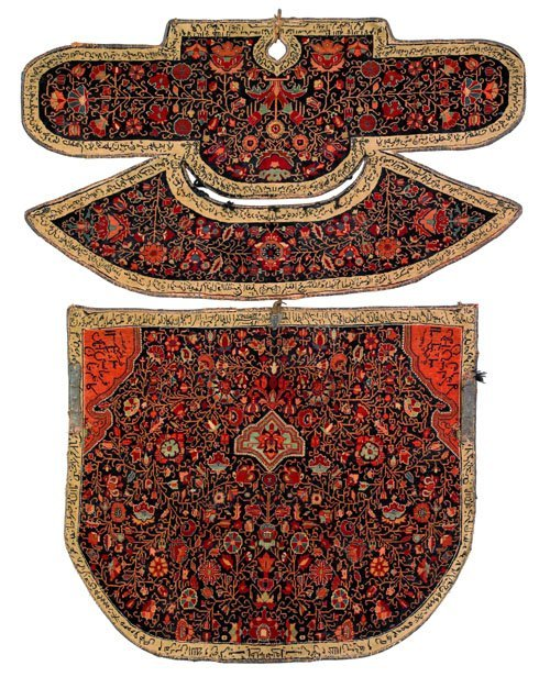 7: Persian saddle blanket and cover, 19th c., with