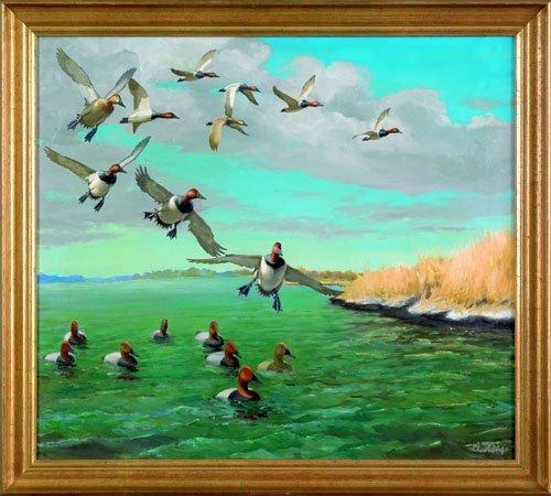 14: Richard Evett Bishop (American, 1887-1975), oil