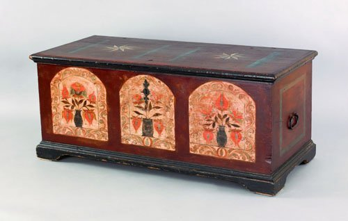 333: Pennsylvania painted dower chest, attributed to
