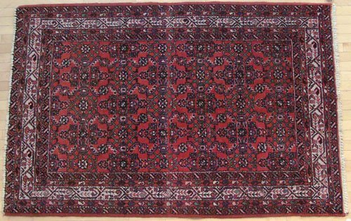 2A: Hamadan carpet, mid 20th c., 7' x 4'8''.