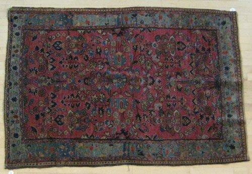 4E: Sarouk carpet, ca. 1920, 6' 6'' x 4' 5'', together
