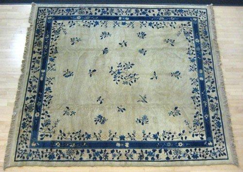 5: Chinese carpet, mid 20th c., 11' 4'' x 10'.
