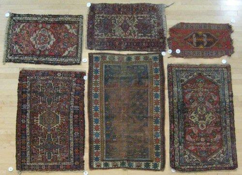 9A: Six oriental mats, largest is 4' 5'' x 2' 9''.