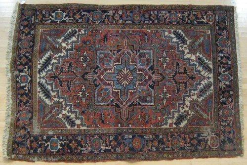 9C: Heriz carpet, ca. 1930, 8' 8'' x 6' 3''.