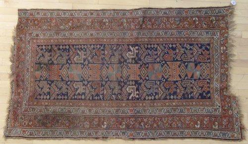 9E: Hamadan carpet, early 20th c., 6'4'' x 3'9''.