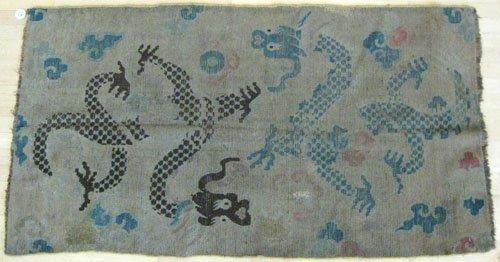 12: Chinese dragon rug, 6' 1'' x 3' 4''.