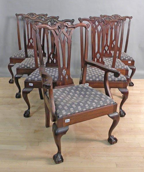 658: Assembled set of seven Centennial mahogany dining
