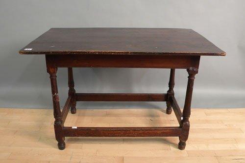662: Pine tavern table, ca. 1800, 27 1/2'' h., 43'' w.,