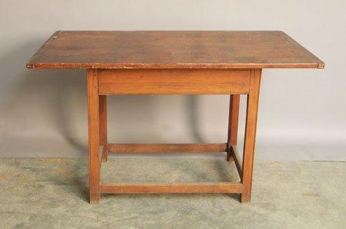 665: Pine tavern table, 19th c., 26'' h., 42'' w., 26 1