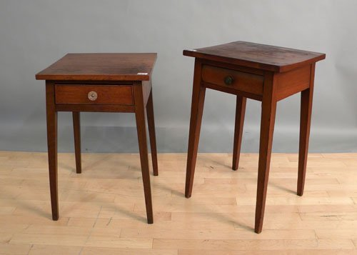 669: Two one-drawer stands, 19th c., 28 3/4'' h., 18''