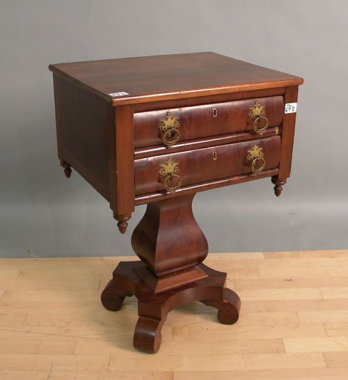 673: Empire two-drawer stand, 19th c., 29 1/2'' x 20 1/