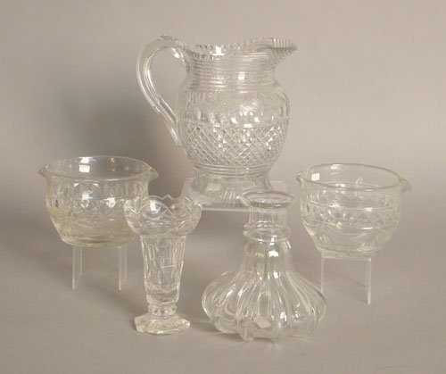 742: Group of colorless glass to include two wine tast