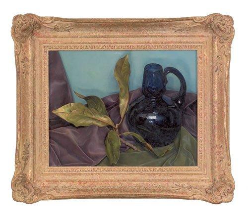5: Luigi Lucioni (American, 1900-1988), oil on can
