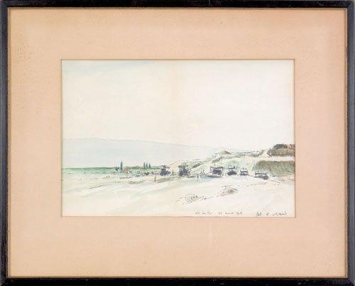 10: James McBey (American, 1883-1959), ink and wate