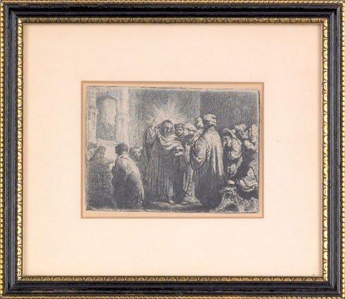 13: Rembrandt van Rijn (Dutch, 1606-1669), etching