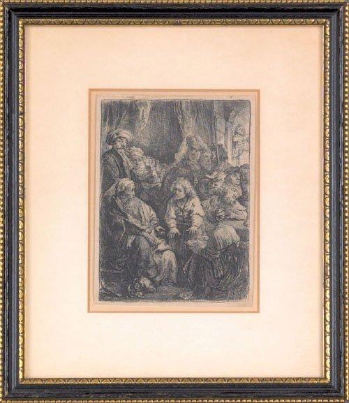 14: Rembrandt van Rijn (Dutch, 1606-1669), etching