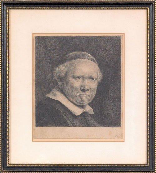15: Rembrandt van Rijn (Dutch, 1606-1669), etching