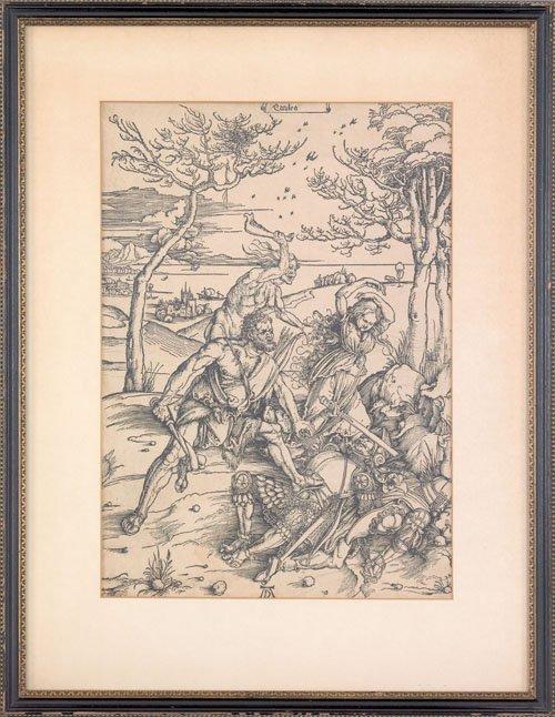 18: Albrecht Durer (German, 1471-1528), woodcut of