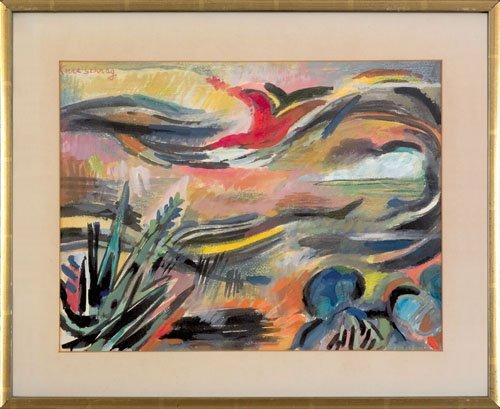 21: Karl Schrag (American, 1912-1995), watercolor t