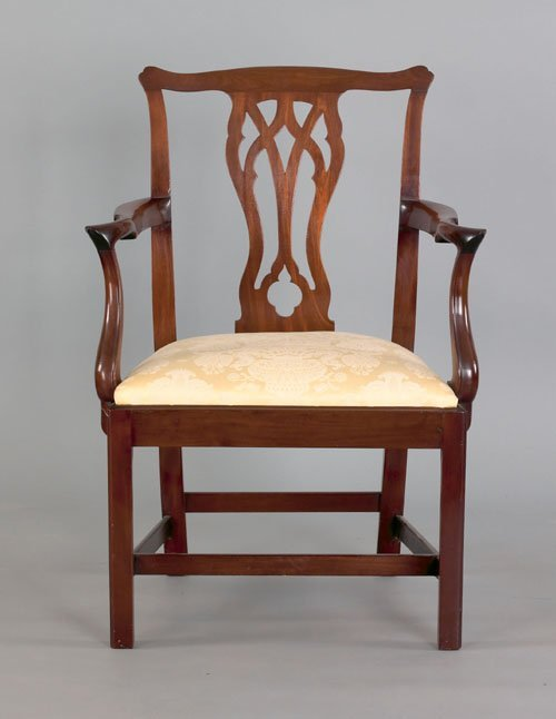 361: George III mahogany armchair, ca. 1770, with a