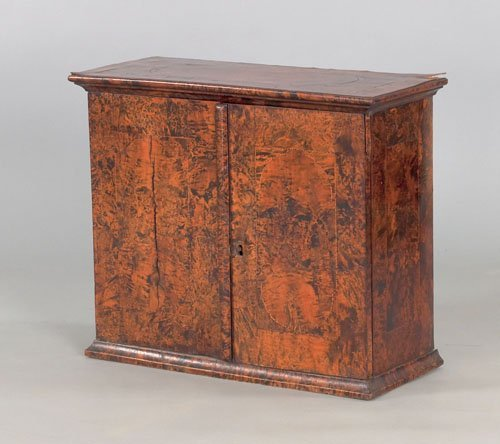 362: George I burl veneer spice chest, early 18th c.