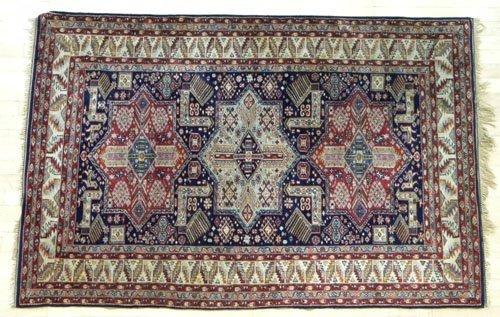 4: Modern Akstafa carpet, 6'4'' x 4'2''.