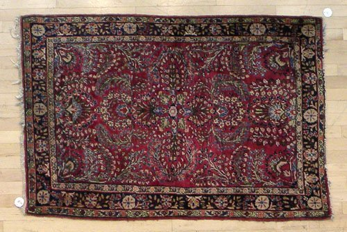 4B: Sarouk carpet, ca. 1930, 5' x 3'6''.