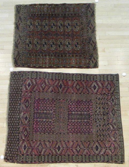9: Two Turkoman carpets, early 20th c.