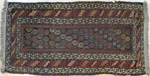 12: Three Hamadan carpets, early 20th c., 7' x 3'6'',