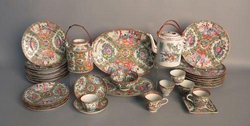 14: Group of rose medallion porcelain, 20th c.
