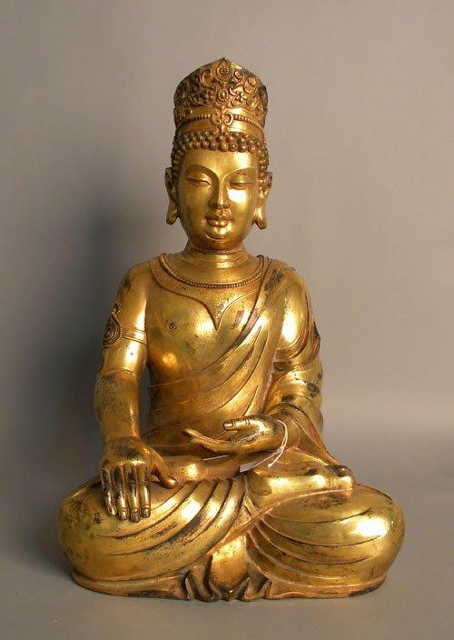 281: Large bronze figure of a Buddha, 22 1/2'' h.