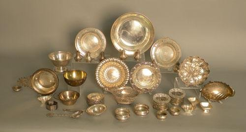 651: Group of sterling silver serving dishes, 64.4 ozt