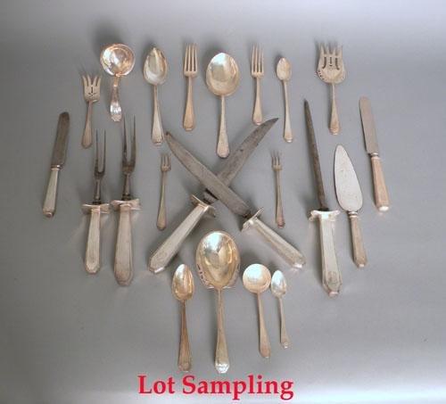654: Dominick & Haff sterling silver flatware service