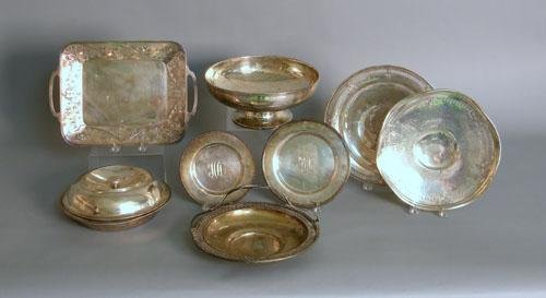 659: Group of sterling silver serving pieces to includ
